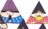 マトリョーシカ風「ひな人形ペーパークラフト」